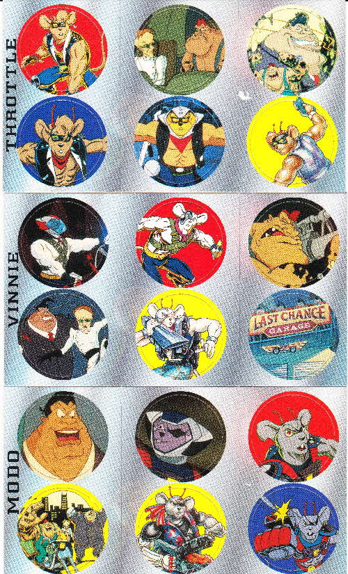 1995 Shreddies Biker Mice from Mars Pogs (2)