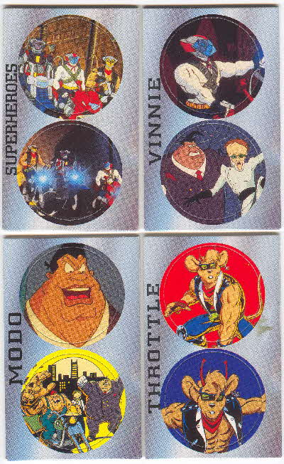 1995 Shreddies Biker Mice from Mars Pogs