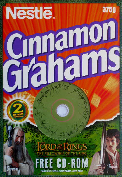 2001 Golden Grahams Lord of the Rings CD Rom front