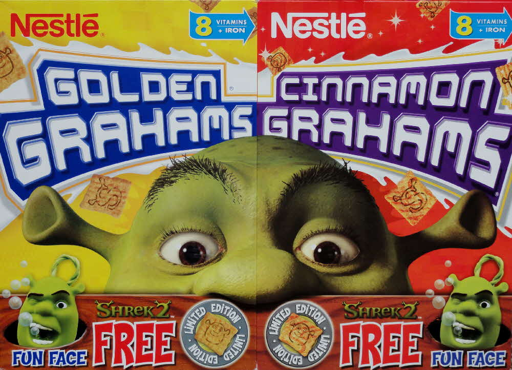 2004 Golden Grahams Shrek 2 Fun Faces front