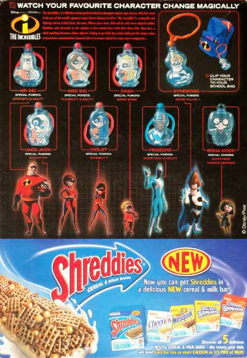 2004 Golden Grahams The Incredibles Hidden Heros