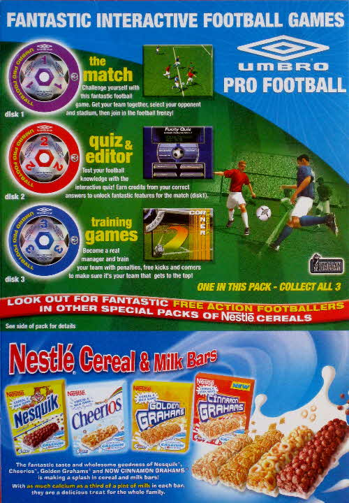 2004 Golden Graham Pro Football CD Rom back