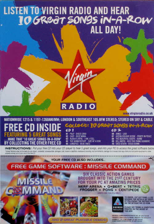 2000 Golden Grahams Virgin Radio CD back