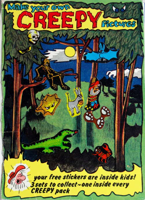 1974 Golden Nuggets Creepy Stickers Woods