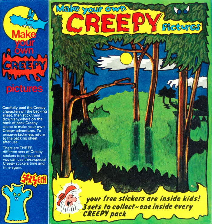 1974 Golden Nuggets Creepy Stickers Woods1
