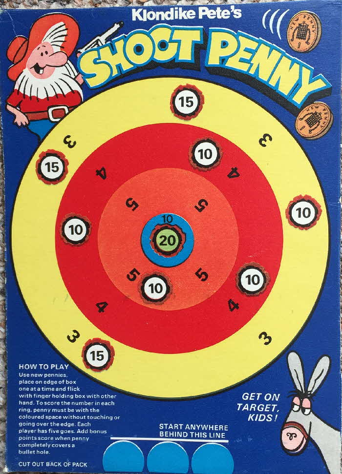 1976 Golden Nuggets Klondike Pete's Games