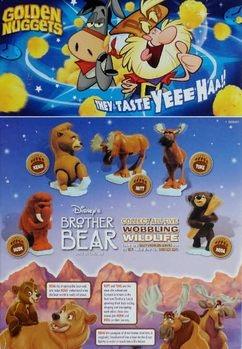 2003 Golden Nuggets Brother Bear Wobbling Wildlife