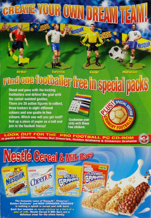 2004 Golden Nuggets Action Footballers pack