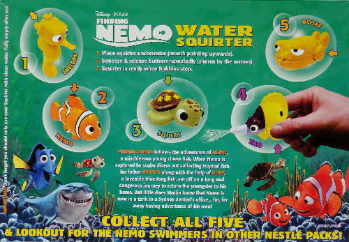 2003 Golden Nuggets Nemo Water Squirters