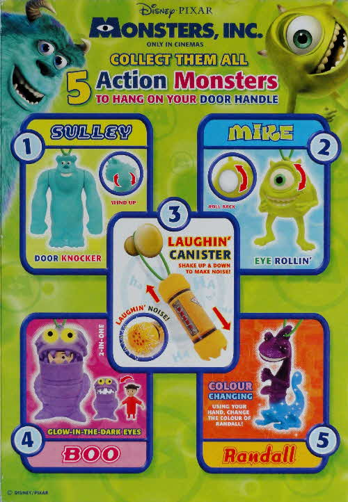 2002 Golden Nuggets Monsters Inc Hanging Action Monsters1