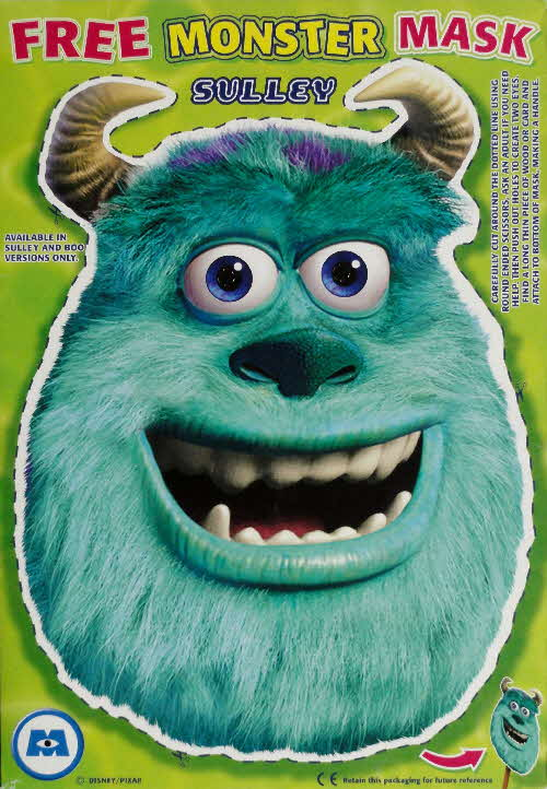 2002 Golden Nuggets Monsters Inc Sulley Mask
