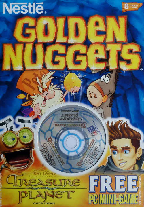2003 Golden Nuggets Treasure Planet CD Rom game front 2