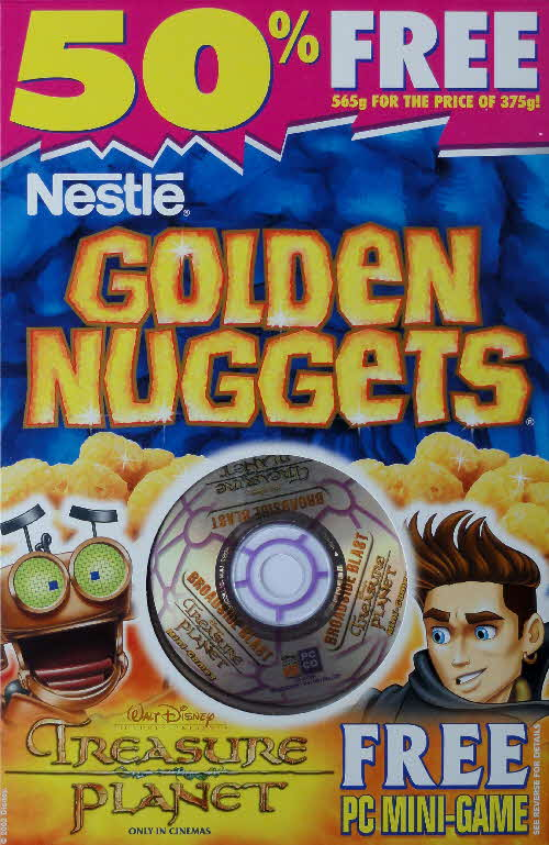 2003 Golden Nuggets Treasure Planet CD Rom game front 4