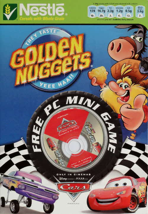 2006 Golden Nuggets Cars PC Mini Game front 1