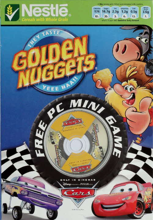 2006 Golden Nuggets Cars PC Mini Game front 2