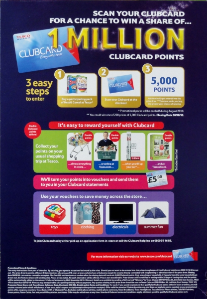 2010 Nesquik 1m Tesco Clubcard points1 small