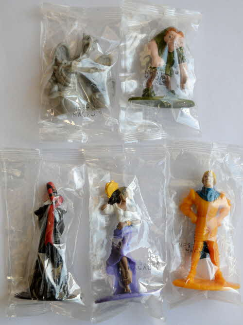 1993 Nesquick Hunchback of Notre Dame figures - mint