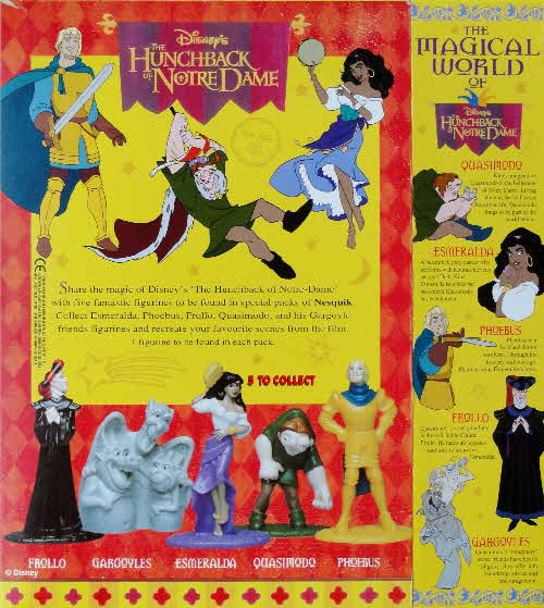 1993 Nesquick Hunchback of Notre Dame figures