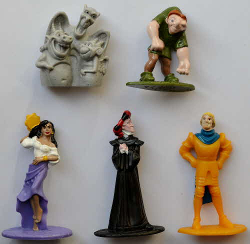 1993 Nesquick Hunchback of Notre Dame figures1