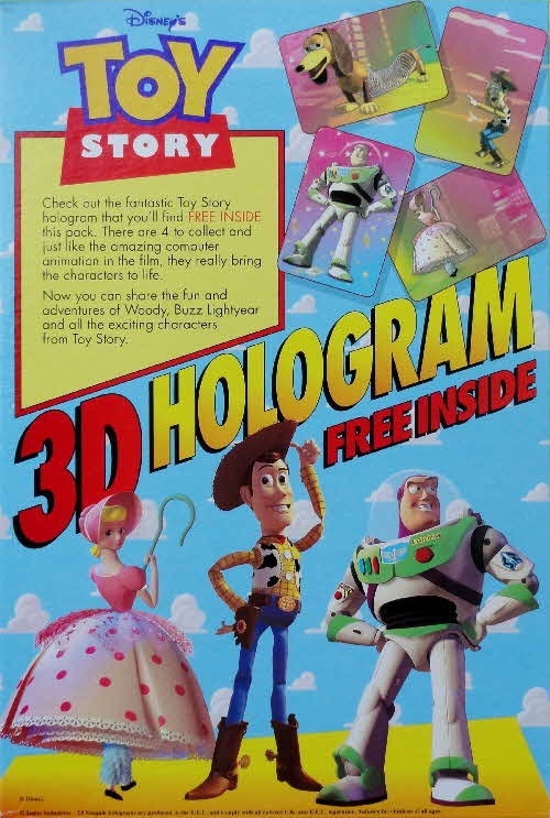 1993 Nesquick Toy Story 3D Holograms