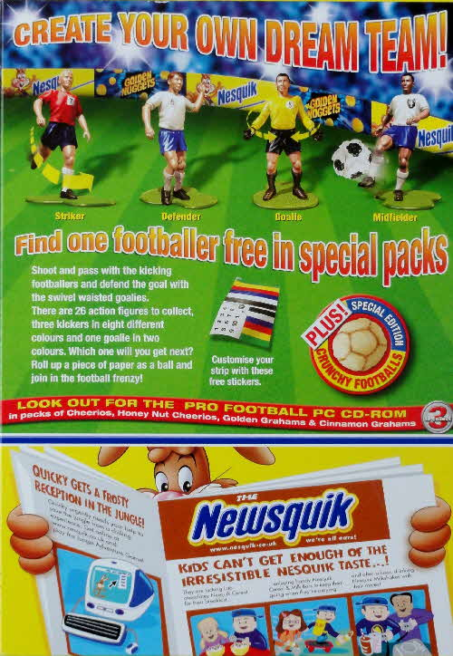 2004 Nesquik Action Footballers Limited Edition pack