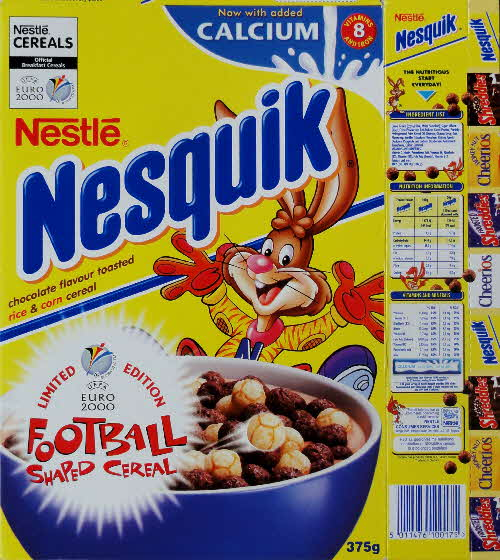 2000 Nesquik Euro 2000 Table Top Football - Limited Edition Shapes front