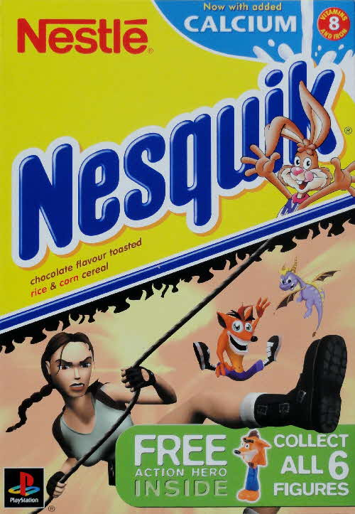 2001 Nesquik Playstation Action Hero front Lara