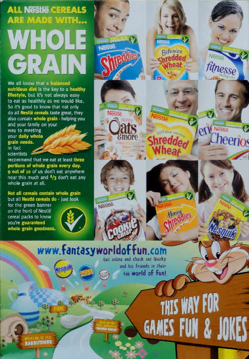 2007 Nesquik Whole Grain and Fantasy World
