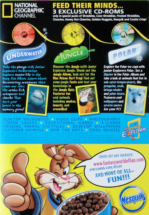 2006 Nesquik National Geographical CD Rom
