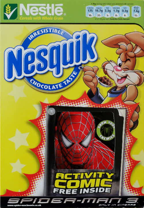 2007 Nesquik Spiderman 3 Activity Comic front 1