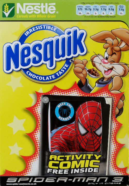 2007 Nesquik Spiderman 3 Activity Comic front 2