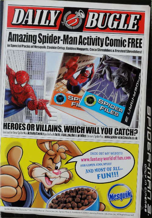 2007 Nesquik Spiderman 3 Activity Comic