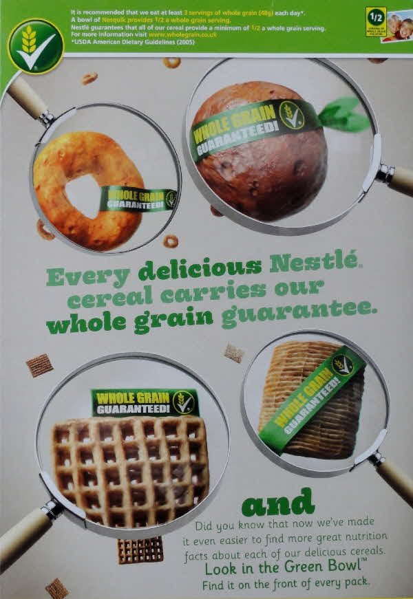 2010 Nesquik Whole Grain Guarantee