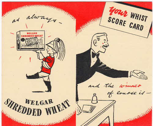 1950s Shredded Wheat Whist card