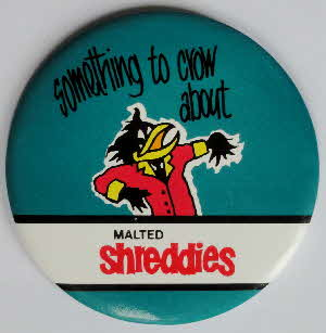 1980s Shreddies Crow badge