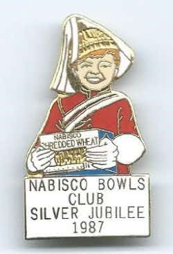 1987 Shredded Wheat Silver Jubilee Badge