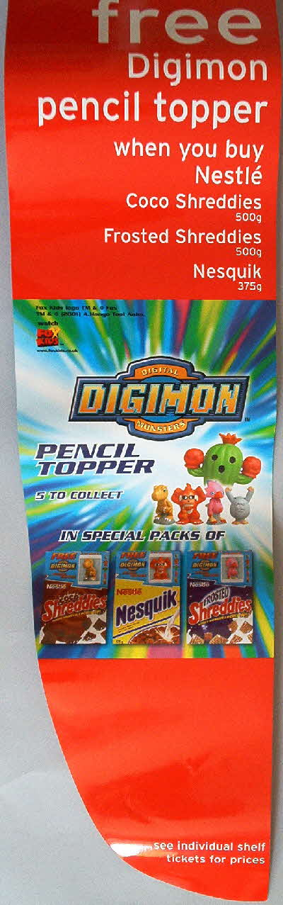 2001 Nesquick Digimon Pencil Topper shop displays (1)