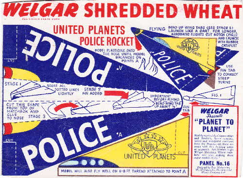 1954 Shredded Wheat Planet to Planet No 16