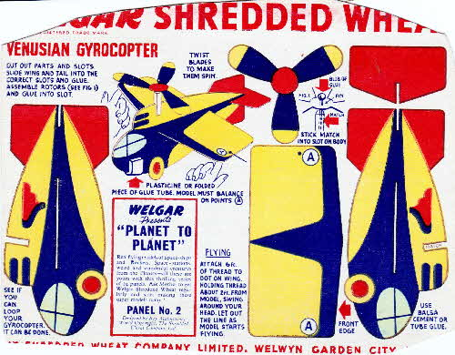 1954 Shredded Wheat Planet to Planet No 2