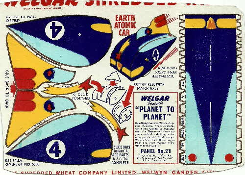 1954 Shredded Wheat Planet to Planet No 21