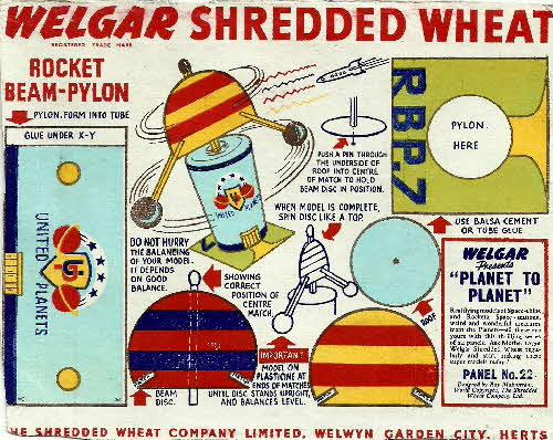 1954 Shredded Wheat Planet to Planet No 22