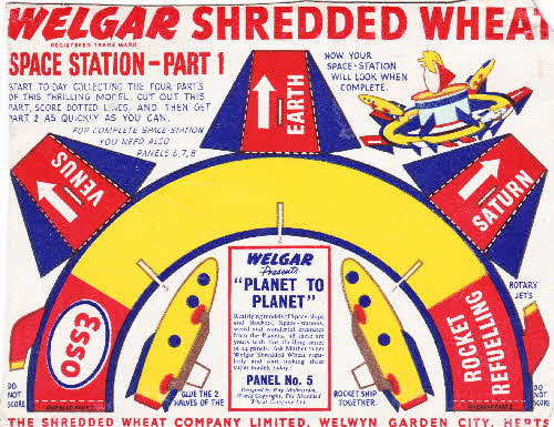 1954 Shredded Wheat Planet to Planet No 5