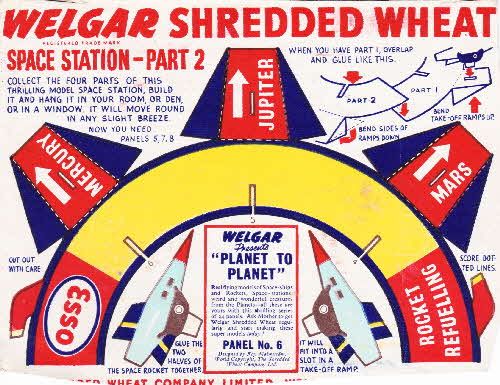 1954 Shredded Wheat Planet to Planet No 7