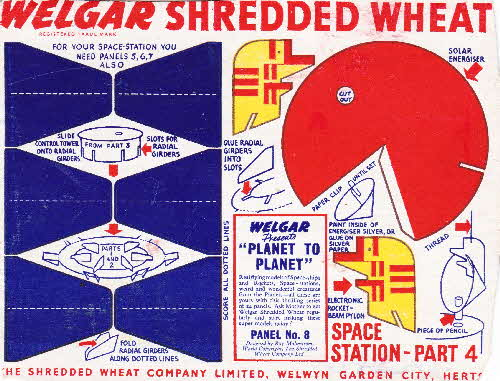 1954 Shredded Wheat Planet to Planet No 8