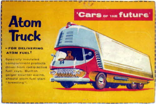 1957 Shredded Wheat Cars of the Future Atom Truck