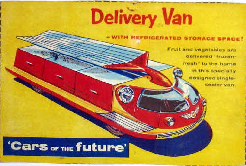 1957 Shredded Wheat Cars of the Future Delivery Van