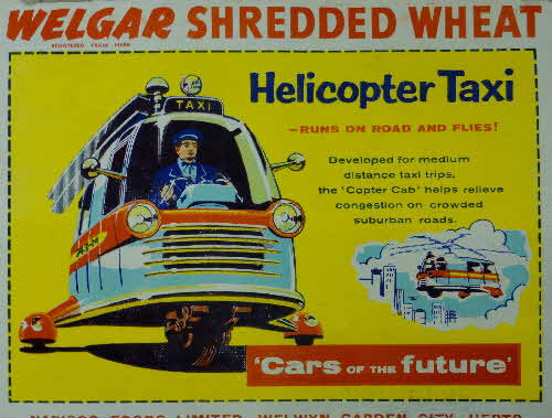 1957 Shredded Wheat Cars of the Future Helicopter Taxi
