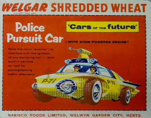 1957 Shredded Wheat Cars of the Future Police Pursuit Car