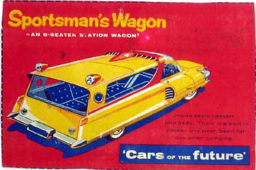 1957 Shredded Wheat Cars of the Future Sportsmans Wagon