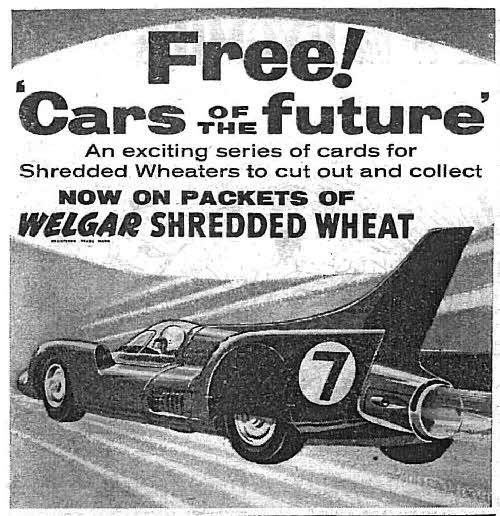 1957 Shredded Wheat Cars of the Future